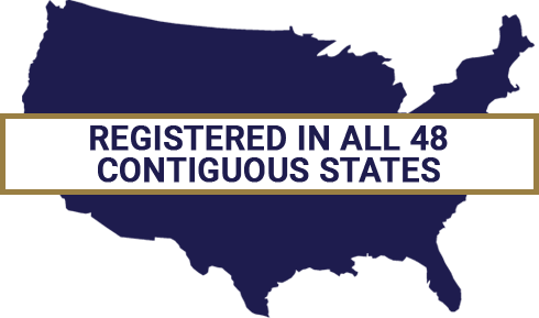 Registered in all 48 contiguous states